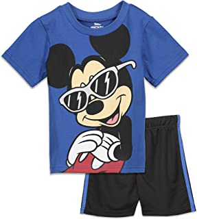 Mickey Mouse Short Sleeve T-Shirt and Mesh Shorts Set
