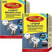 Aeroxon - 2 x anti-myggplugg – perfekt för att skydda myggor/geler, tigermyggor, flugor och malar – påfyllningsflaskor finns