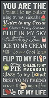 P. Graham Dunn You are The Peanut to My Butter Love of My Life 18 x 19 Wood Wall Plaque Sign
