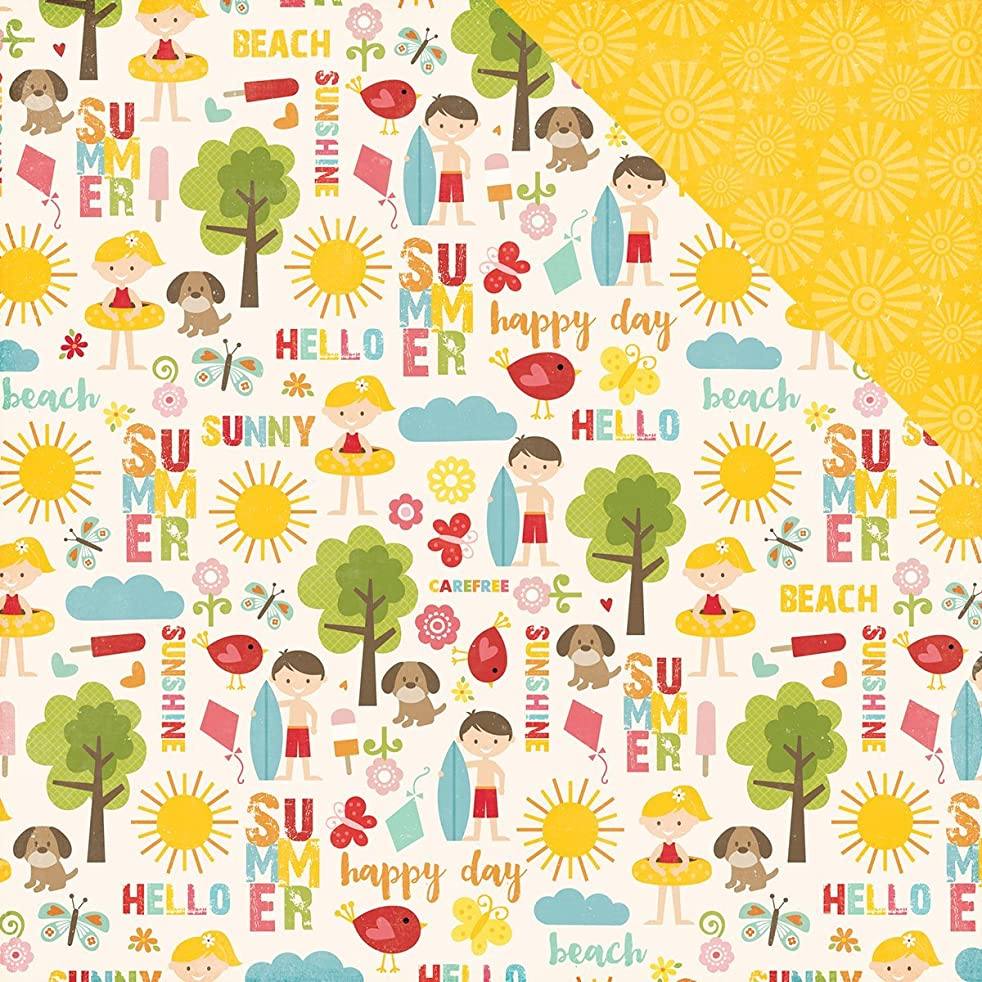 Echo Park Paper Happy Summer Double-Sided Cardstock 12