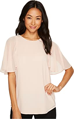 Calvin Klein - Tunic Top with Flutter Sleeve