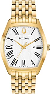 Bulova Gold Tone Quartz Movement Dress Watch (Model: 97M116)
