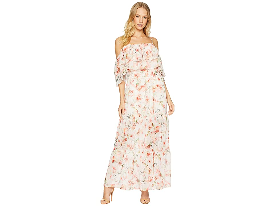 BB Dakota RSVP Tae Floral Off the Shoulder Dress (Vanilla) Women