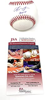Chipper Jones Atlanta Braves Signed Autograph Official MLB Baseball HOF Inscribed JSA Witnessed Certified
