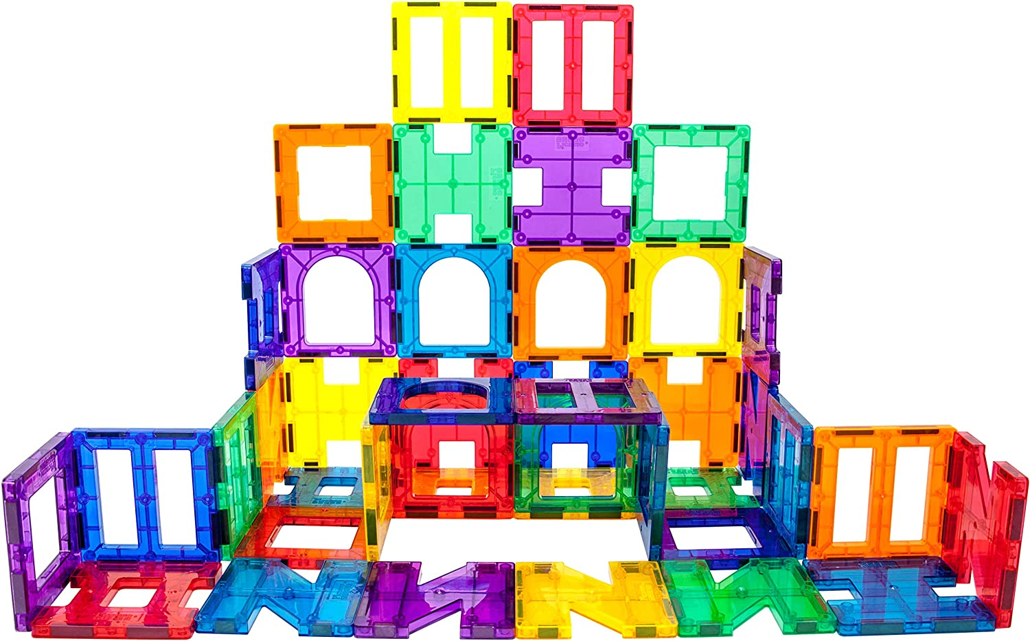Our shop most popular free shipping PicassoTiles 42 Piece Magnetic Building Playboards Block Set Mag