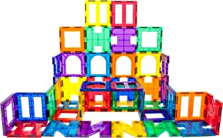 PicassoTiles¨ PT42 Designer Artistry Kit 42pcs Set Magnet Building Tiles Clear Color Magnetic 3D Building Block - Creativ...