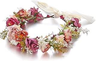 Best burgundy flower headband Reviews