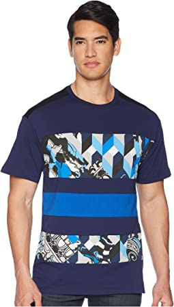 Graphic Block Stripe Tee Shirt