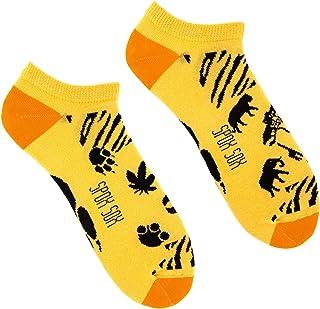 Low Unisex - Calcetines cortos multicolores y coloridos para individualistas