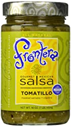 FRONTERA Gourmet Mexican Tomatillo Salsa, Medium, Keto Friendly, 16 oz.