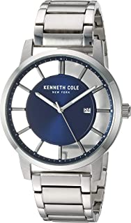 Kenneth Cole New York Men's 'Transparency' Quartz Stainless Steel and Leather Casual Watch (KC50560007/05/03/02/01)