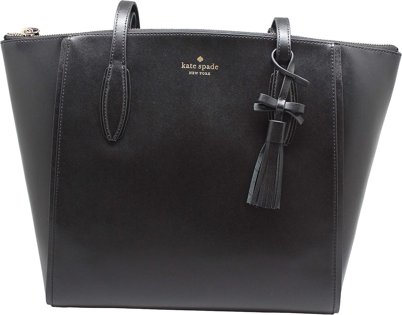 Kate Spade New York Kali 5 ☆ very popular Shoulder Black OFFicial mail order Large Tote Bag