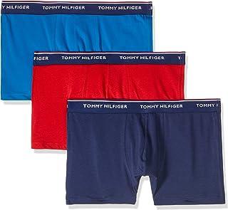 TOMMY HILFIGER Men's Cotton Boxer Shorts, Blue/Red/Peacot