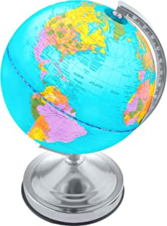 Illuminated Kids Globe with Stand – Educational Gift with World Map and LED Night Light..