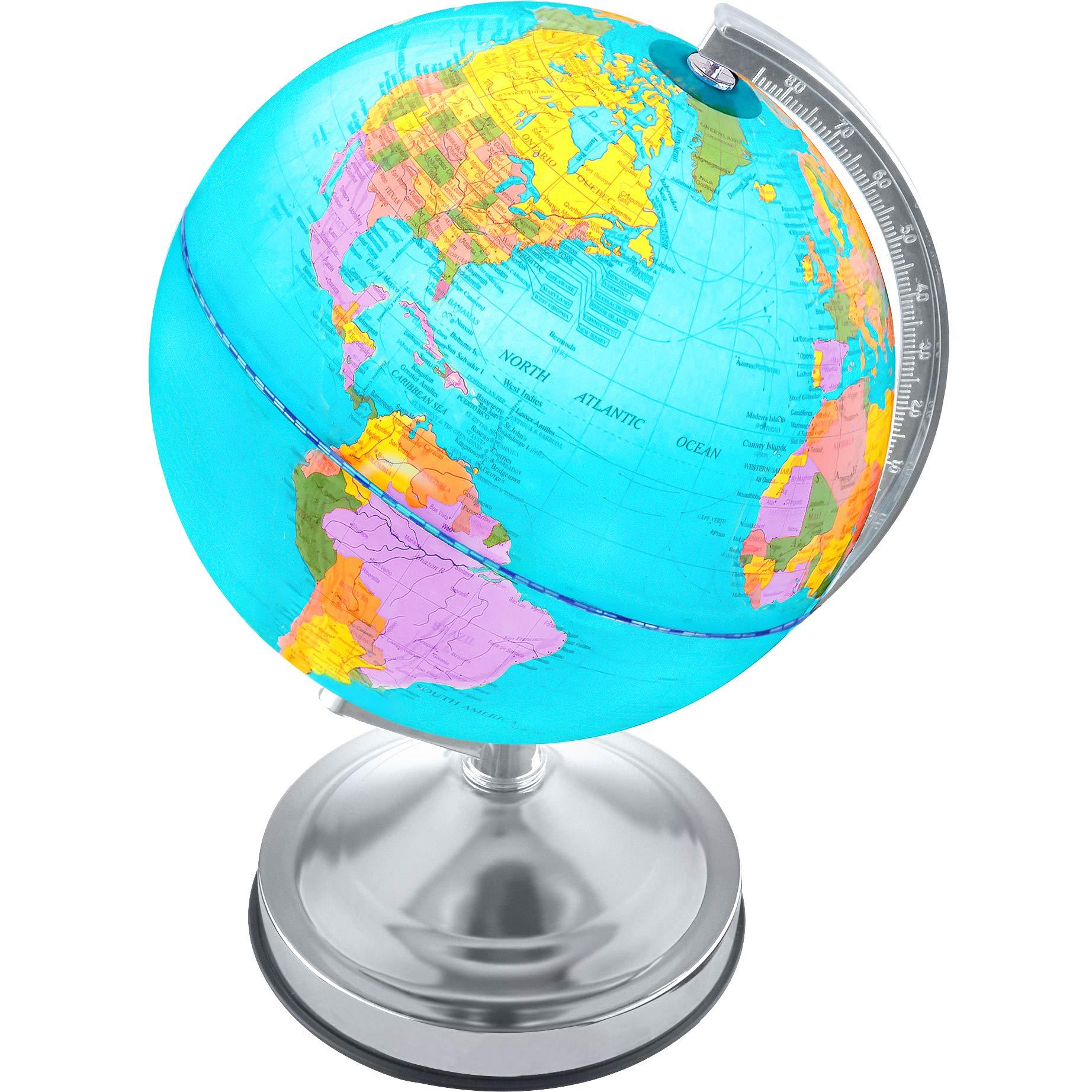 Illuminated Kids Globe Stand Educational