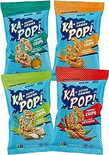 Ka-Pop! Popped Chips, Variety Pack (3.25oz, Pack of 4) - Allergen Friendly, Sorghum, Gluten-Free, Paleo, Non-GMO, Vegan, W...