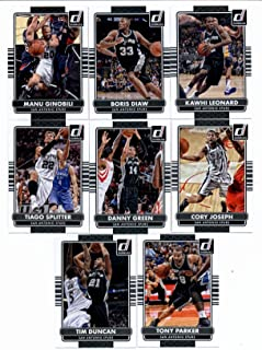2014/15 Donruss Basketball Team Set (Veterans)- San Antonio Spurs ( 8 Cards)> Tony Parker,Tim Duncan,Tiago Splitter,Danny Green,Cory Joseph,Manu Ginobili,Boris Diaw,Kawhi Leonard