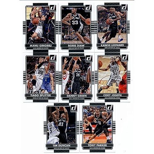 2014/15 Donruss Basketball Team Set (Veterans)- San Antonio Spurs (8