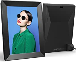 Dragon Touch Modern 10 Digital Picture Frame, 2K 10 Inch Touch Screen Digital Photo Frame with Built-in Rechargeable Battery, Share Photos via App, Email, Cloud