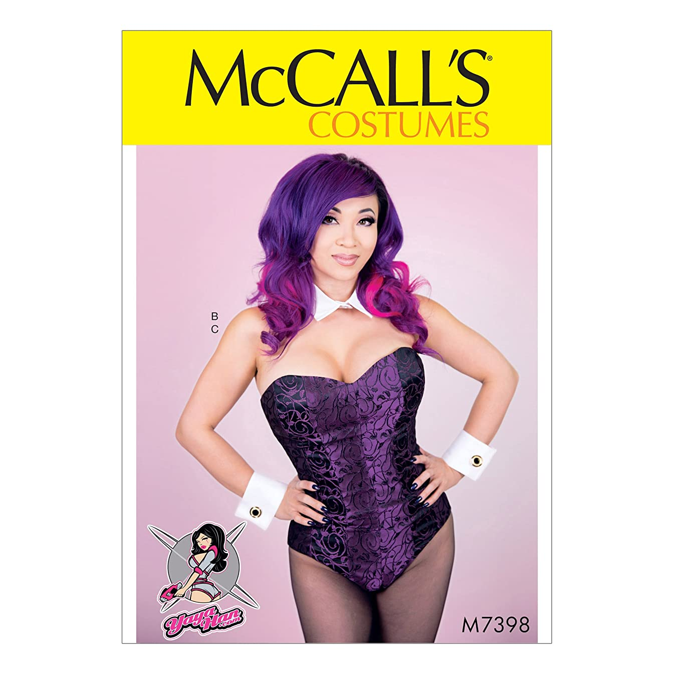 McCall's Patterns M7398 A5 Corseted Bodysuit, Collar, Cuffs and Tail by Yaya Han, Size 6-14