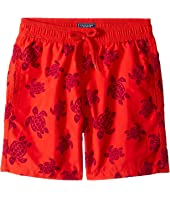 Vilebrequin Kids - Tortues Flockées Swim Trunk (Big Kids)