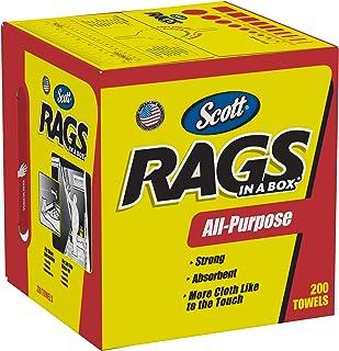 Scott Rags In A Box 75260, White, 200 Shop Towels/Box, 8