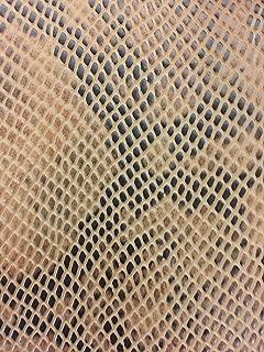Matte Python Snake Skin Upholstery Handbags Wallet Vinyl Fabric - BTY - 8 Colors (Bronze)