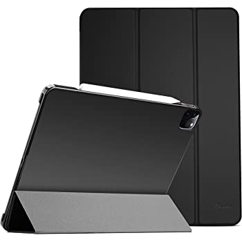 "ProCase iPad Pro 12.9 Case 4th Generation 2020 & 2018, [Support Apple Pencil 2 Charging] Slim Stand Hard Back Shell Smart Cover for iPad Pro 12.9"" 4th Gen 2020 / iPad Pro 12.9"" 3rd Gen 2018 –Black"