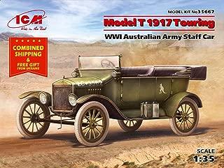 Model T 1917 Touring, WWI Australian Army Staff Car 1/35 Scale Model ICM 35667