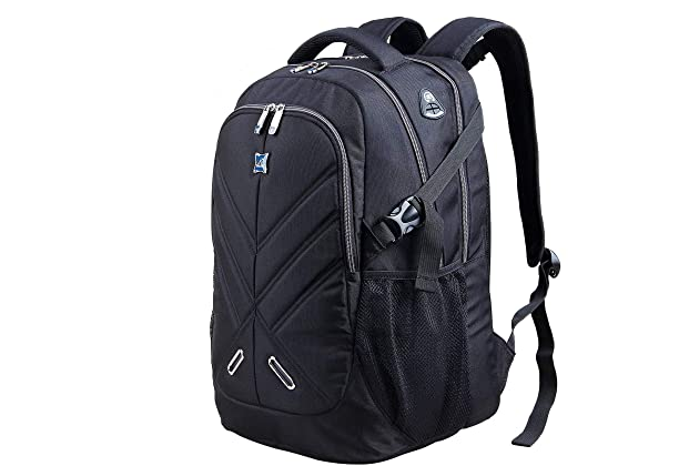 Backpack for Men and Women Fit 17 Inches All 15.6 Inches Laptops Waterproof  Shockproof OUTJOY School Bag Travel Bag Book Bag Business Work Daypack Black 225e3226522df
