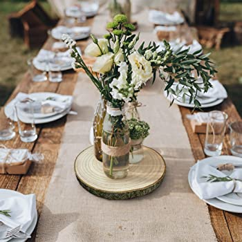 Wedding Party Wood Table Center Piece