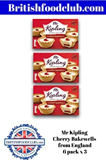 Bundle of 3 - Mr Kipling Cherry Bakewell 6pk x 3 Delivers 3-5 Days USA