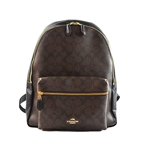 0ae7fc238d44 Coach Pebbled Leather Backpack F37410 Black (Black Brown)