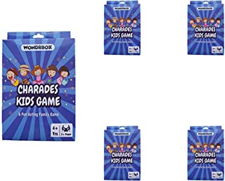 WONDRBOX Charades Card Game Birthday Return Gift for Kids - Pack of 5 | an Imaginative Birthday Party Game for Young Child...