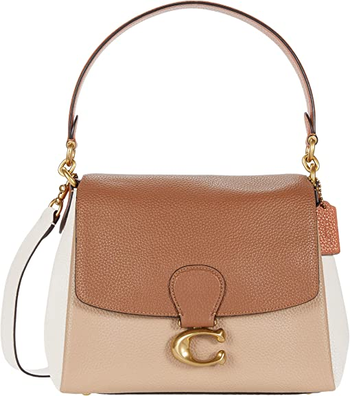 코치 컬러블록 메이 숄더백 COACH Color-Block May Shoulder Bag,B4/Vintage Khaki Multi