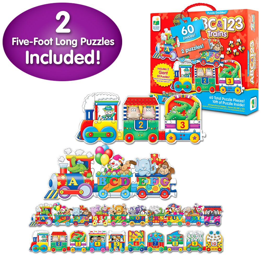 Amazon Com The Learning Journey Puzzle Doubles Giant Abc 123