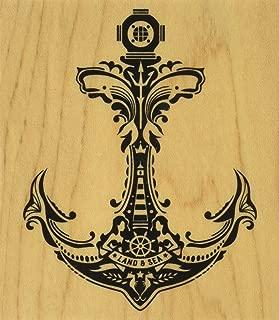 Inkadinkado Mindscape Anchor Mounted Rubber Stamp, 3.5
