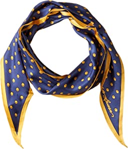 Silk Dot Diamond Shape Scarf