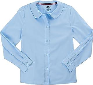 cadf2f5ee8267e French Toast School Uniform Girls Long Sleeve Modern Peter Pan Blouse