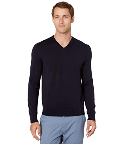 Calvin Klein Merino V-Neck Sweater 12 (Deep Creek) Men