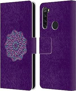 オフィシャル Beth WIlson メタリックパープル・サークル ケルティック・ノッツ Xiaomi Redmi Note 8T 専用レザーブックウォレット カバーケース