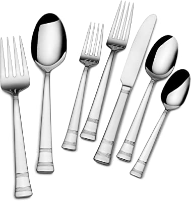 Mikasa Evie Flatware Set, One Size, Stainless Steel