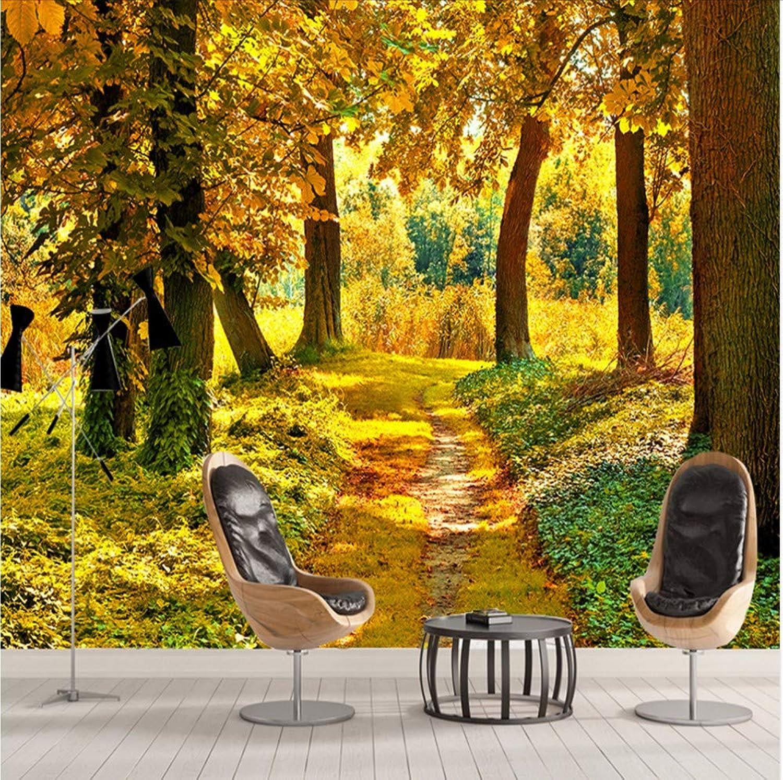 barato y de alta calidad HD Bosque de otoo Hoja Hoja Hoja de arce Mural 3D Naturaleza Foto Papel tapiz Sala de estar Comedor Romántico Decoración de interiores Papel tapiz no tejido-200X140CM  garantizado