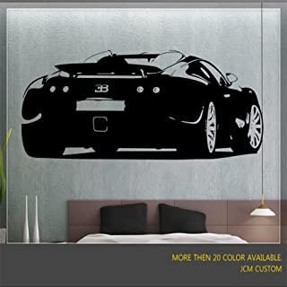 "JCM Custom Bugatti Veyron Removable Wall Vinyl Decal Stickers 48"" X 21.7"""