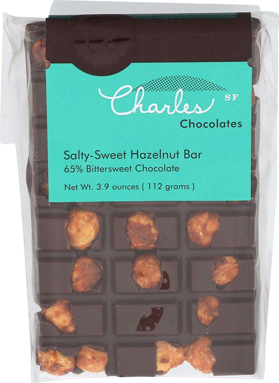CHARLES CHOCOLATES Salty-Sweet Hazelnut 3.9 Bar Mesa OFFer Mall OZ