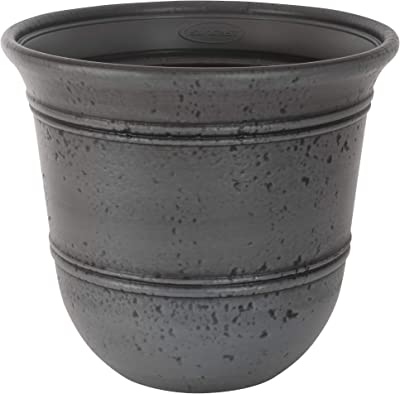 Suncast Gray 1624GP2 Stoneycreek Resin Planter, 2-Pack