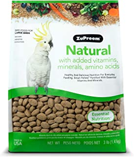Zupreem Natural Avian Diet ,Food for Large Parrots 3lb (1.4 kg)