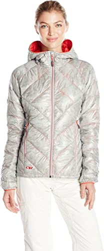 Outdoor Research Wohommes Filament Hooded Down Jacket, Alloy Flame, Small