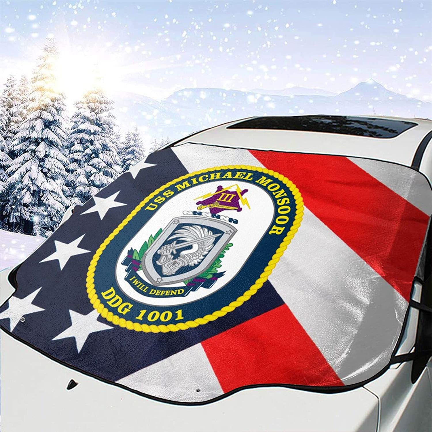 USS Michael Monsoor Bombing free Kansas City Mall shipping DDG 1001 Windshield Removal Cover Snow W Ice