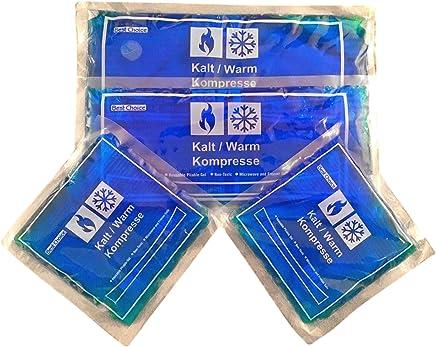 Blau Kompressen K/ühlbeutel Geeignet f/ür die Mikrowelle B Blesiya K/ühlpads Kalt /& Warm Kompresse aus Gel